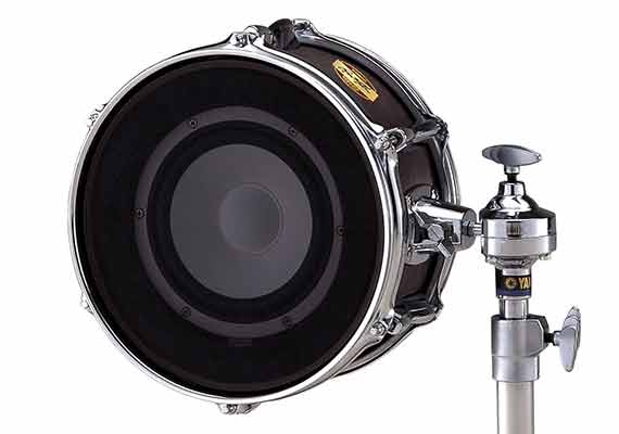 This is a reverse-wired speaker that responds to the ultra low frequencies generated by a bass drum. In combination with a Shure Beta 91 it is instrumental in getting a huge kick sound.